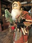 's Country Store Santa/Early Log Cabin Quilt Coat/early Rag Doll