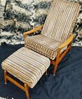 Milo Baughman chair for James Inc early 50s rocker recliner with ottoman mcm