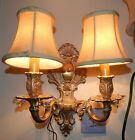 WHITE WALL SCONCES WITH PRISMS AND SHADES VERY BEAUTIFUL