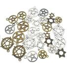 Tibetan Silver Star Pagan Wicca Gothic Pentagram Charms Pendant Jewelry Making