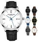 Stuhrling Men's 3997A Minimalist Design Dress and Casual Genuine Leather Watch