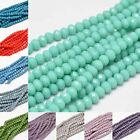 10 Strds Opaque Glass Beads Rondelle Faceted Tiny Wholesale Loose Beads 6x4mm