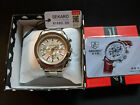 Sekaro Speedy Style 6098 Automatic Watch Seagull Movement GMT Bracelet Grey Dial