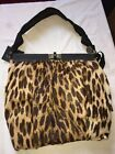 New LANVIN Rare Animal Print Calfskin Leather Pleated Top Tote shoulderbag BNWT