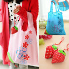 Strawberry Fold up Reusable Compact Eco Periodic Duty Recycling Use Shopping Bag