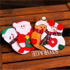 Xmas Placemat Red Christmas Dinner Table Decor With Santa Shape Cutlery Bag NEW