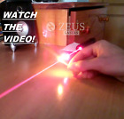 Super Powerful Red Laser Pointer Focusable Beam 650nm Light Wicked Burning Lazer