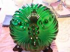 Anchor Hocking Forest Green Burple Bubble Depression Glass Footed Master Berry