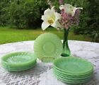 *12* Fire-King Jade-ite Jadeite Shell Saucers *New Old Stock* *Mint*