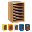 Adiroffice Wood 11 Compartment Vertical Paper Desktop Sorter Organizer