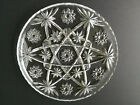 Round Clear Glass Serving Tray Star of David Design EAPC 11