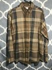 Vibtage Brooks Brothers 346 Size Large Plaid Brown 1980s Button Up
