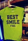 VICTORIA SERET PINK XS BEST SMILE SHIRT GREAT CONDITION GRAPHIC SHIRT