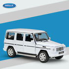 Welly 124 Mercedes Benz G Class SUV Model Diecast Cars White In Box