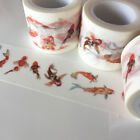 WASHI TAPE WIDE KOI GOLD FISH 30MM X 5MTRS CRAFT WRAP PLANNER SCRAP MAIL ART