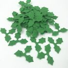 NEW 100pcs Green Holly leaves Felt Appliques for Christmas Decoration DIY 36mm