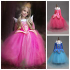 Kids Girls Sleeping Beauty Princess Aurora Fancy Party Dresses Cosplay Costumes