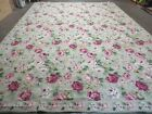 10' X13' STARK USA Hand Made Needlepoint Wool Floral Rug Carpet Rose Garden Chic