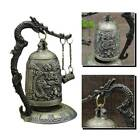 Retro Carved Dragon Bell Statue Decoration Metal Crafts Ornaments Home Gift