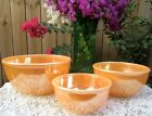 Fire-King Peach Lustre Luster Beaded Edge Mixing Bowl Set
