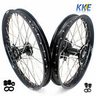 KKE 21/19 BLACK CAST HUB WHEEL RIM FIT HONDA CR125R CR250R 96-99 CR500R 96-2001