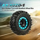 AX 4020-1 110mm 1.9in Tire BeadQAck Wheel Rim for 1/10 SCX10 90046 D90 RC Car SS