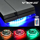 Upgrade Sturdy USB RGB LED Cooling Cooler Fan Pad Stand for PS4 Pro Xbox One X