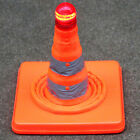 LED Road Skip Light Lamp Flashing Scaffolding Traffic Cone Safety Red+White