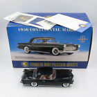 Franklin Mint 124 Scale 1956 Black Continental Mark II Die Cast Car with Box