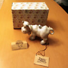 Precious Moments Cow with Bell Blue Bird E 5638 Nativity Addition Free Ship