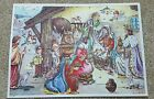 Vintage Paper Advent Calendar with Mailing Envelope Western Germany nativity
