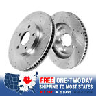 Front Drilled And Slotted Brake Rotors For Mercedes Benz CL550 S400 S550