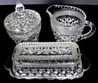 ANCHOR HOCKING WEXFORD LOT Creamer, Covered Sugar Bowl and Covered Butter Dish