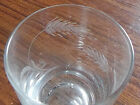 Vintage 8 Wheat Cut Glass Pattern Lowball Glasses 3 1/4