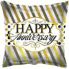 18 Happy Anniversary Lines  Dots Mylar Foil Balloon Party Decoration