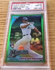 Mike Stanton Rc 2010 PSA 10 Topps Chrome Green Refractor #190 Rookie Gem 599