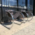 Pair of Chrome Cantilever lounge chairs by Byron Botker for Landes c1970s