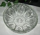 Vtg Anchor Hocking Crystal Glass Medallion Clear 8