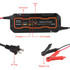 Waterproof 6v12v 3a5a Smart Car Battery Charger 3-stage Maintainerdesulfator