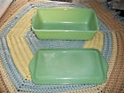 Fire King Jadeite Philbe Loaf Dish With Lid Anchor Hocking