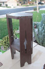 Antique Stickley / Limbert Style Mission Oak Stand Taboret Table Old Paint