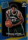 Sterling Brown 2017-18 Donruss Optic Gold Prizm Refractor Rated Rookie RC #5 10