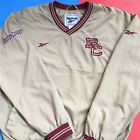 VTG Boston College BC Eagles Reebok V Neck Windbreaker Kacket Mens Medium