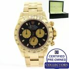 Rolex Daytona Cosmograph 116528 Paul Newman Black 18K Yellow Gold 40mm Watch G8