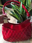 Red Patent Leather Shoulder Bag By Stuart Weitzman For Russell  Bromley