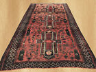 Authentic Hand Knotted Vintage  Afghan Balouch  Wool Area Rug 8 x 4 FT (5705)