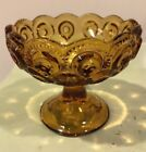 USA Moon and Star Glass Amber Compote Candy Nut Dish