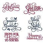 Handcrafts Cutting Dies Pretty Words Stencil Templates DIY Paper Card Scrapbook