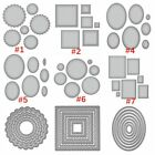 Cutting Dies Circle Rectangle Frame Set Stencil Handcraft Scrapbooking Album DIY