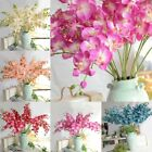 US Artificial Silk Butterfly 8 Heads Orchid Flowers Bouquet Home Decor